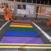 Dublin City Council Paints Rainbow Walk On Capel Street