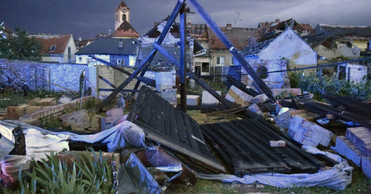 One dead, hundreds injured by rare tornado in Czech Republic