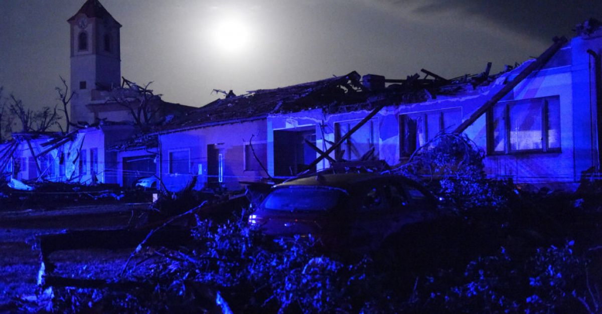 Rare tornado leaves three dead and hundreds injured in Czech Republic