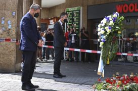 Memorial Held For Victims Of Knife Attack In Germany