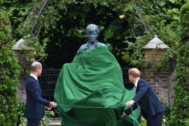 Princes William And Harry Put On United Front At Unveiling Of Diana Statue