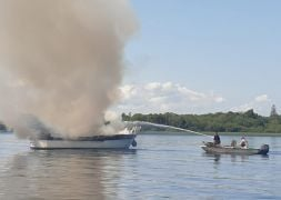 Five People Rescued From Burning Boat On Lough Derg