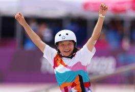 13-Year-Old Momiji Nishiya Wins First Olympic Women's Skateboarding Gold Medal