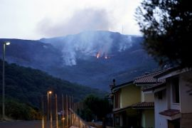 Hundreds Evacuated As Firefighters Tackle Blazes In Italy's Sardinia
