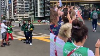 Ireland's Gold Medal Rowers Return To Heroes' Welcome At Olympic Village