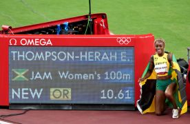 Elaine Thompson-Herah Wins Women's 100 Metres In Olympic Record Time