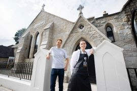 Coffee Lovers 'Blessed' At Altar Of Former Church