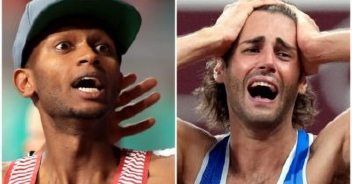 Italy and Qatar share gold in emotional climax of high jump competition