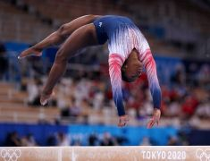 Simone Biles Savours Her Return To Olympic Action And Takes Bronze On The Beam
