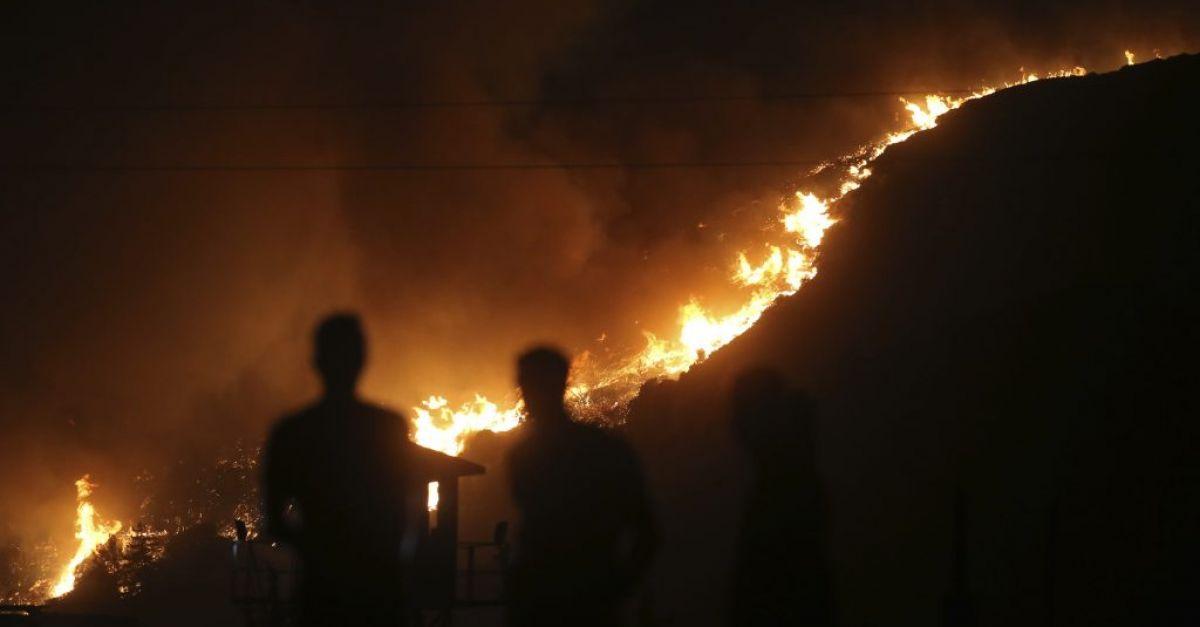 Wildfires burn for an eighth day in coastal Turkey
