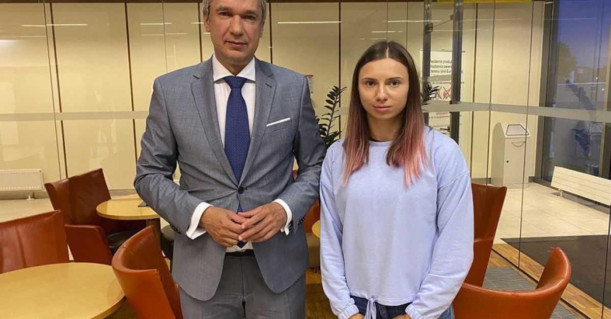 Belarus sprinter: Grandmother advised me not to return home
