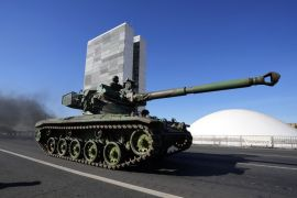 Military Display Rolls Into Brazilian Capital Before Key Vote