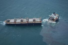 Cargo Ship Splits In Two After Running Aground In Japanese Port