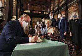 Prince Albert Of Monaco Visits Trinity College Following €1M Donation