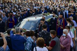 Thousands Gather In Greece For Funeral Of Composer Theodorakis