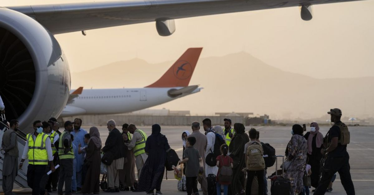 First commercial flight foreigners leave Kabul since the United States withdrew