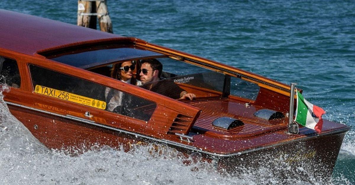 Ben Affleck and Jennifer Lopez arrive together in Venice for a film festival