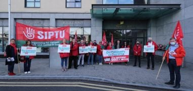 Protest At Fine Gael Think-In Over 'Privatisation' Of Local Employment Services