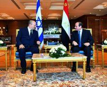 Israeli Pm Visits Egypt For Talks With President El-Sissi