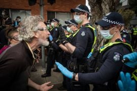 Australian Police Clash With Anti-Lockdown Protesters, Arrest Over 200