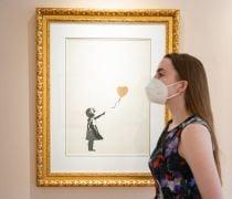 Banksy Artworks On Display Ahead Of Online Auction Deadline