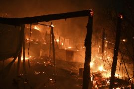 Fire Breaks Out At Greek Migrant Camp And Forces Evacuation