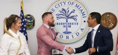 Conor Mcgregor Receives Key To City Of Miami