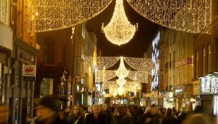 Christmas Lights Begin To Arrive In Dublin City Centre
