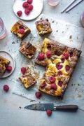 Donal Skehan's Perfect Fudgy Dark And White Ripple Brownies With Raspberries