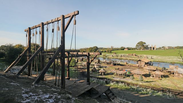 Gallows In Co Meath On Set Of The Last Duel Film Starring Ben Affleck And Matt Damon