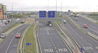 M50 Reopened To Traffic After Overturned Truck Cleared