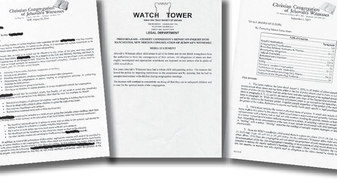 Письма Свидетелей Иеговы о сексуальном насилии над детьми