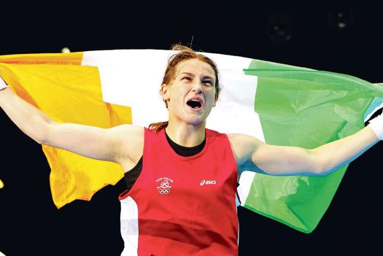 Katie Taylor triumphs for Ireland in the women's 60kg boxing final at the London Olympics in August 2012 Pic: Scott Heavey/Getty