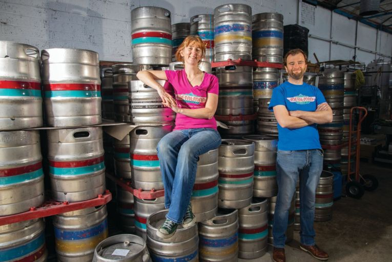 Gráinne Walsh and Tim Barber, co-owners of Metalman Brewing which marks ten years in business this year. Picture: Patrick Browne