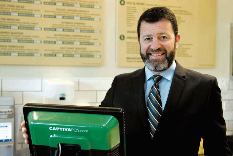 Eddie Carty, co-owner and chief executive of Captiva POS