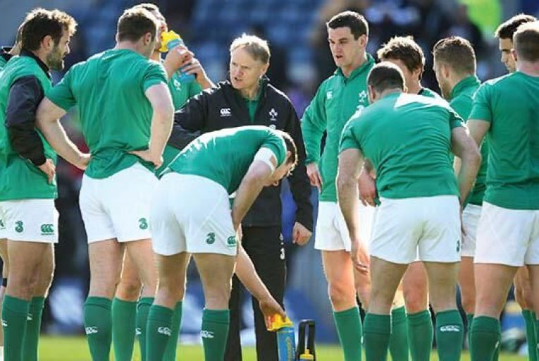 Joe Schmidt takes the warm up before the RBS Six Nations match between Scotland and Ireland at Murrayfield in March  Richard Heathcote/Getty