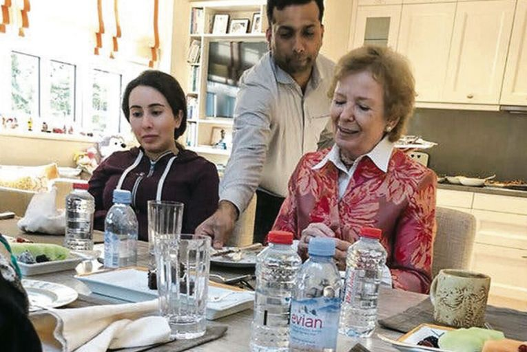 Sheikha Latifa said her appearance with the human rights advocate Mary Robinson in 2018 was staged by family members interested in promoting propaganda. Picture: United Arab Emirates News Agency