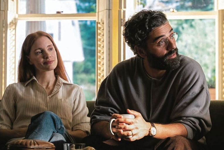 Jessica Chastain and Oscar Isaac in Scenes From a Marriage