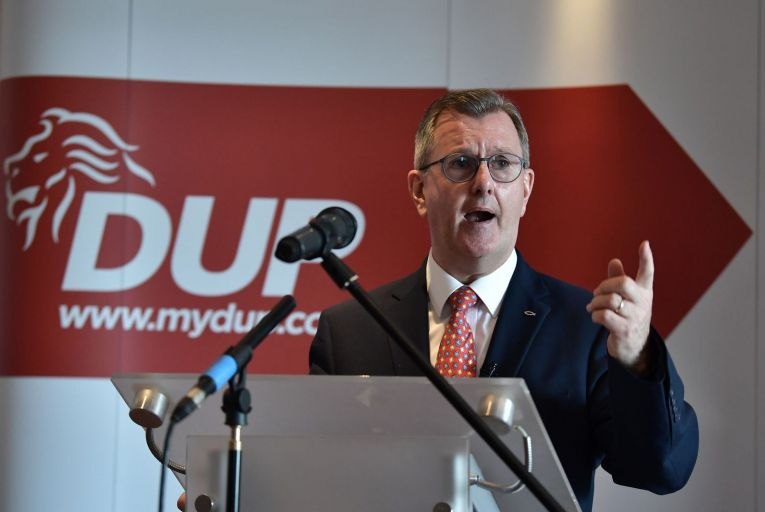 Jeffrey Donaldson, leader of the DUP: what message does expanding his duties for the British government send to the people of Northern Ireland? Picture: Getty