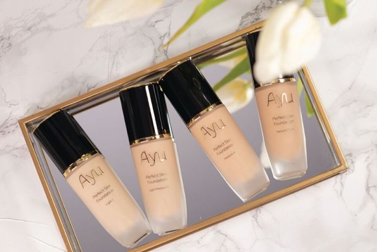 Ayu's Perfect Skin Foundation, €32.50, promises a long-lasting flawless finish