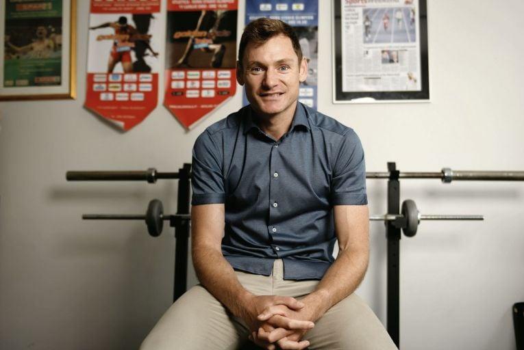 David Gillick, TV presenter for the Tokyo Games. Picture: Bryan Meade