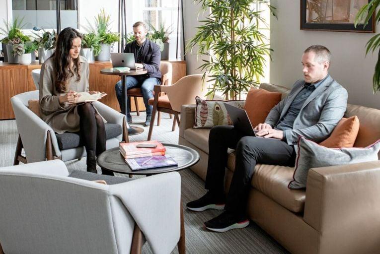 One of flexible office provider Glandore's new post Covid-19 collaborative work spaces