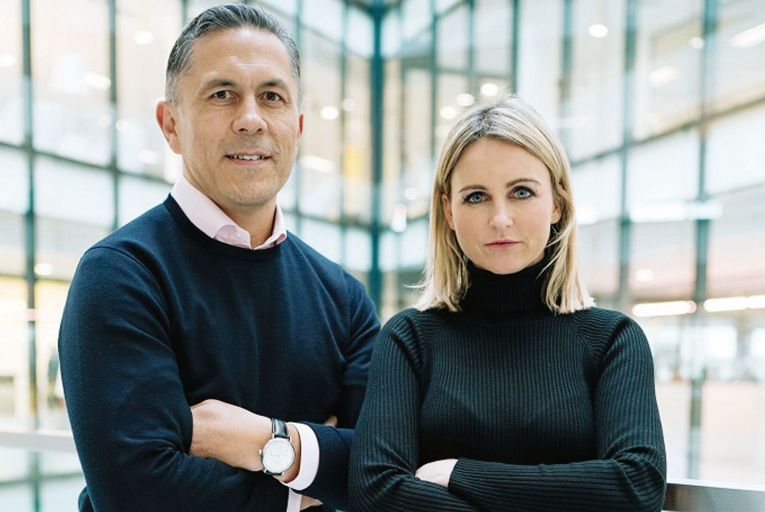 James Kenny and Lucinda Kelly of Popertee: The Irish start-up raised more than €700,000, but has been put into liquidation.