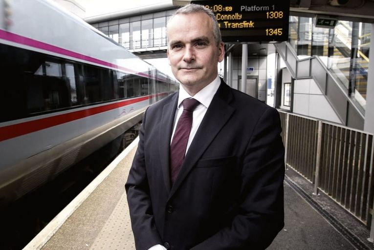 """Chris Conway, chief executive of Translink:  the existing Enterprise fleet went into service in 1996 and has probably """"five to ten years"""" left"""