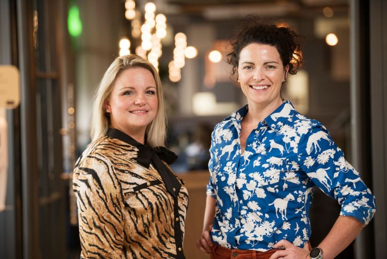Joleen Looney and Karina Kelly, co-founders of Content Llama: in 2020, its first full year of trading, the company went from 'zero to sales of €450,000'. Photo: Andrew Downes