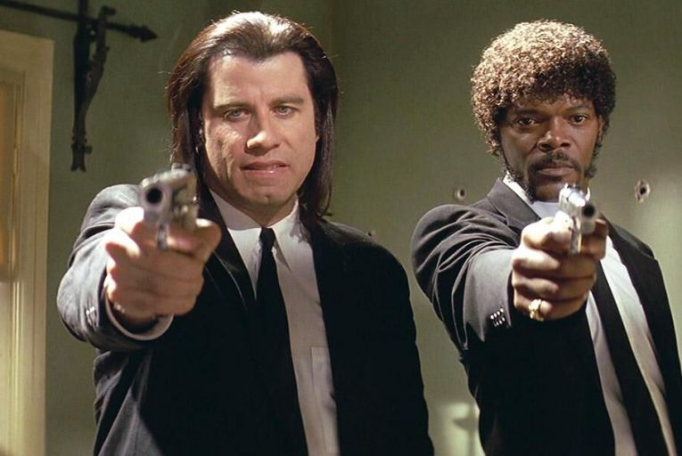 John Travolta and Samuel L Jackson in Quentin Tarantino's Pulp Fiction: if you've ever wanted to ask Alexa what they call a quarter pounder with cheese in France, now's your chance – Jackson will be lending his voice to Amazon's digital assistant