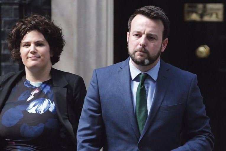 Claire Hanna and Colum Eastwood of the SDLP: Hanna resigned the party whip earlier this yearGetty
