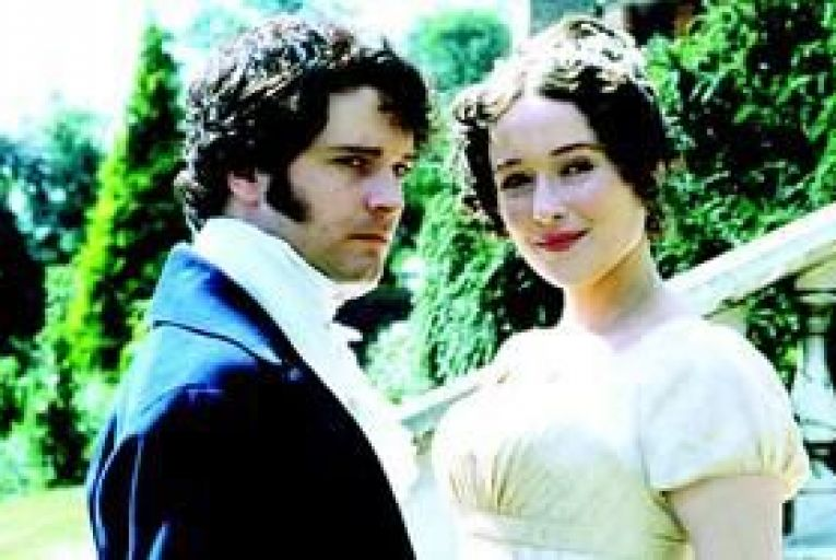 Colin Firth and Jennifer Ehle in the BBC\'s 1995 adaptation of Pride and Prejudice.