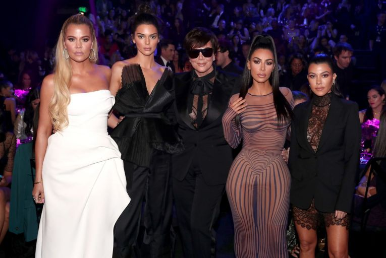 Khloe Kardashian, Kendall Jenner,  Kris Jenner, Kim Kardashian and Kourtney Kardashian Picture: Getty