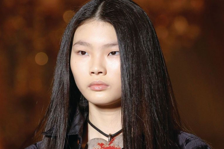 Long luscious locks on the catwalk at Vivienne Westwood's Fall-Winter 2020 show last year